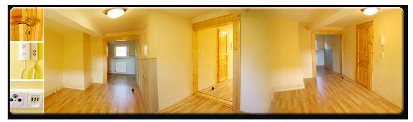 Zimmer 3 [OG, 17,04 m², unmöbliert, besteht aus  Nord- & Südraum die durch einen Wanddurchbruch miteinander verbunden sind]